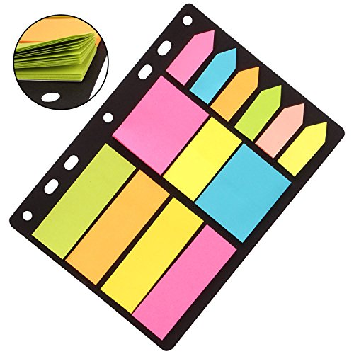 PINZO™ Sticky Notes & Page Markers Binder Pack, 150 Assorted Size.
