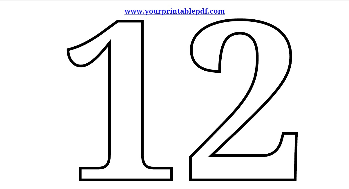 Free Pictures Of The Number 12, Download Free Clip Art, Free.