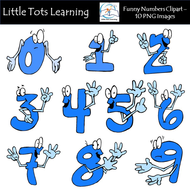 Numbers Clipart / Funny Emoticon Numbers Clipart / Number.
