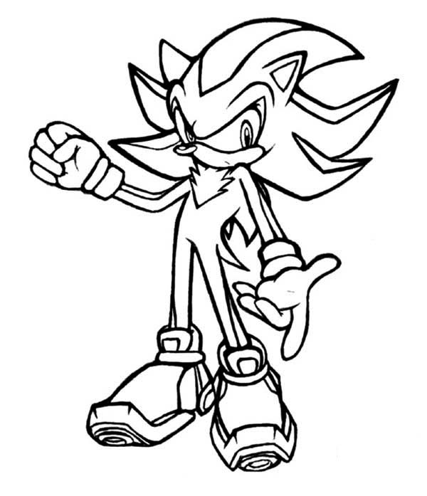 Sonic Coloring Pages Shadow.