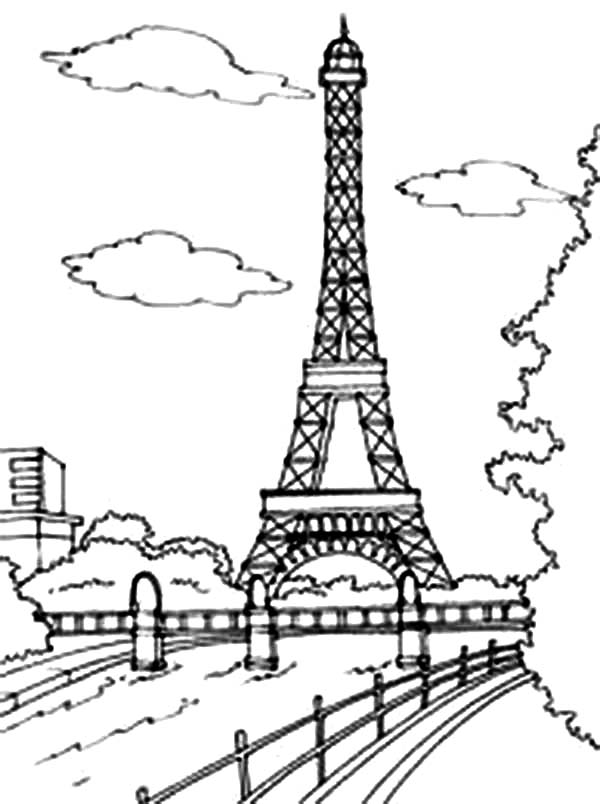 Download Coloring Pages Of The Eiffel Tower.