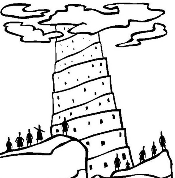 Tower Of Babel Coloring Pages.