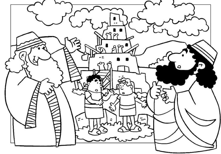 tower of babel coloring page tower of babel coloring page coloring.
