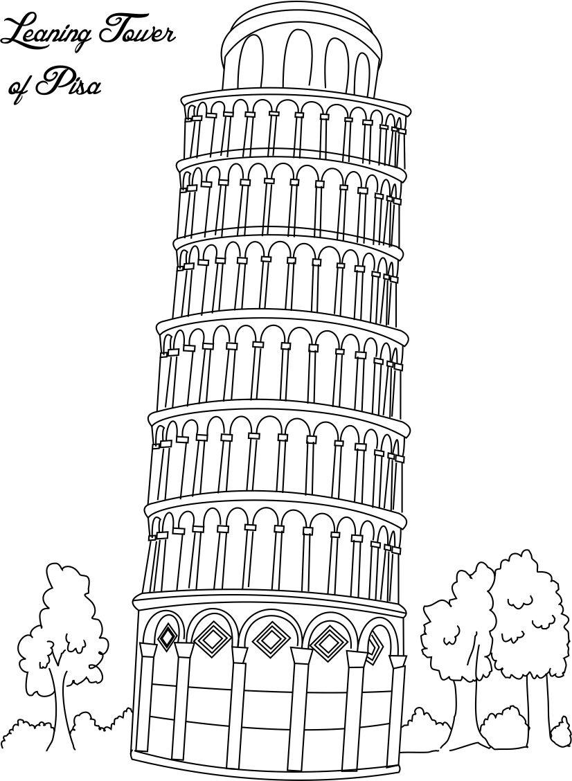 Tower Coloring Pages, Tower Coloring Sheets, Free Tower Coloring.