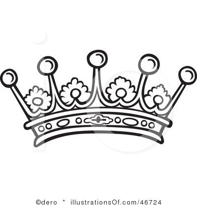 Pageant crown clipart black and white » Clipart Portal.