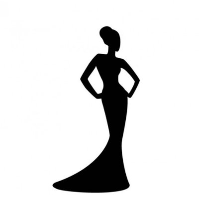 Pageant Queen Silhouette.