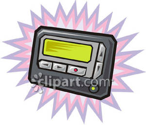 A Beeper Or Pager Royalty Free Clipart Picture.