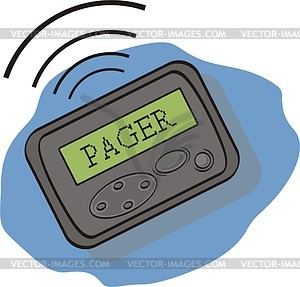 Pager clip art.