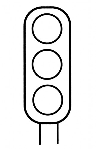 Stop Light Coloring Page.