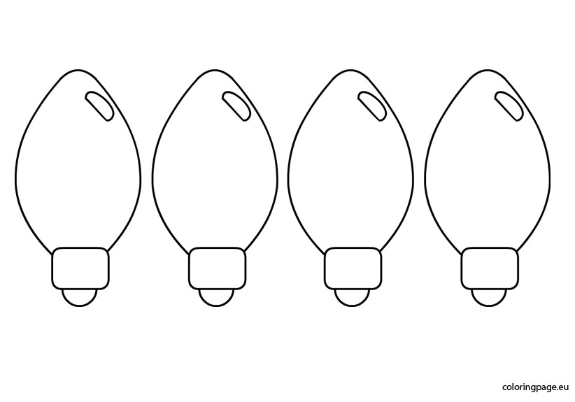 free coloring pages christmas lights christmas light bulb coloring.