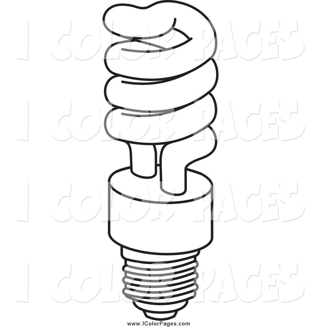 Light Bulb Coloring Sheet, christmas light bulb coloring page.