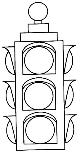 Traffic Light Coloring Pages.