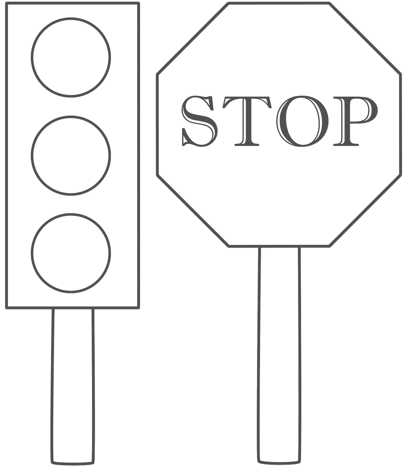 Traffic Light And Stop Sign Coloring Pages #QsrSud.