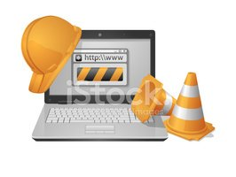 Página Web En Construcción vectores en stock.