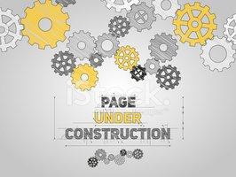 Página Bajo Construcción Concepto, Bosquejado Dibujando Con.