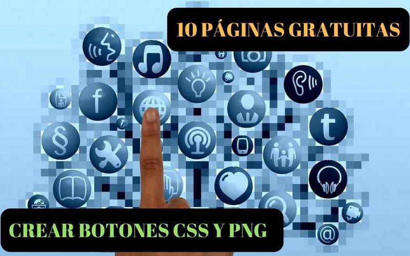 10 páginas para crear botones CSS y PNG totalmente gratis.