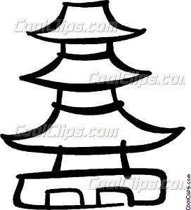 Pagoda Vector Clip art.