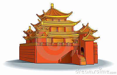 Pagoda Stock Illustrations.