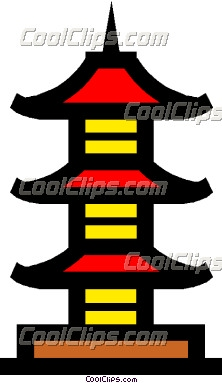 Red pagoda clipart.