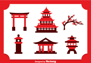 Asian Pagoda Clipart.