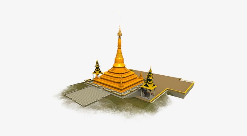 Myanmar Pagoda Png Transparent PNG.