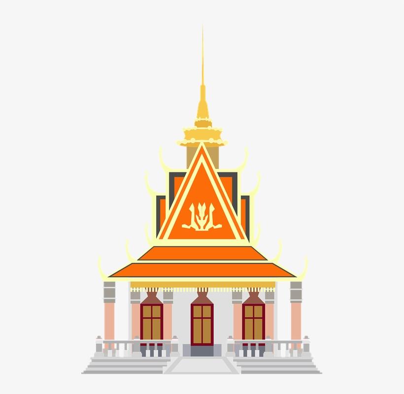 Pagoda In Cambodia Png.