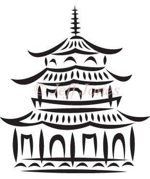 Chinese pagoda clipart.