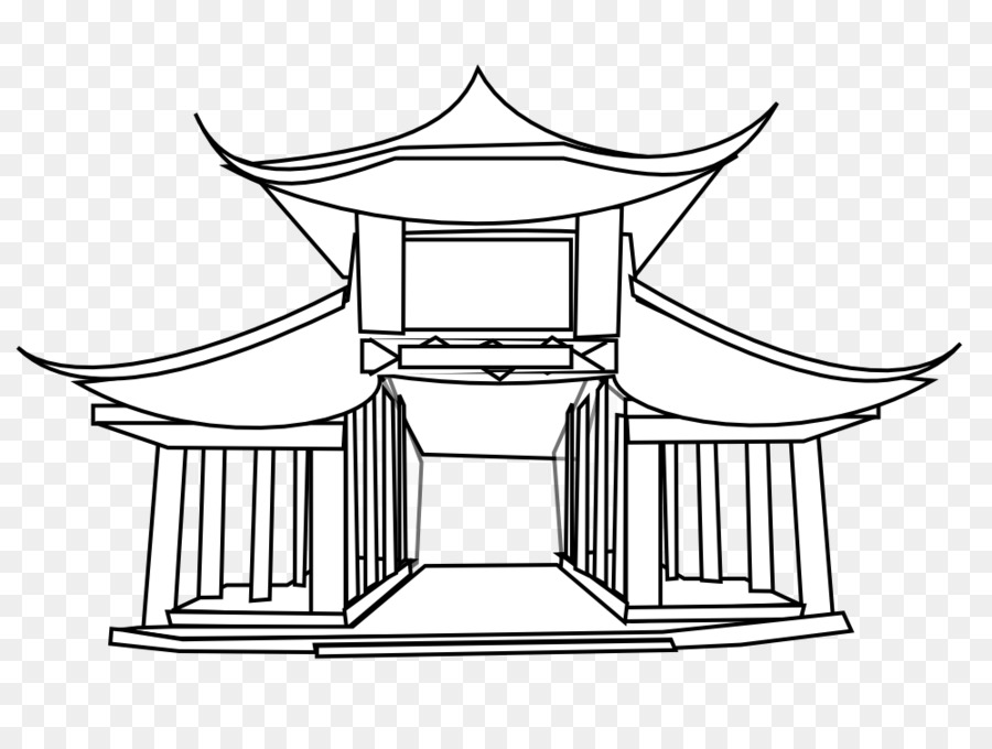 China Temple chinesische Küche chinesische Pagode Clip Art.