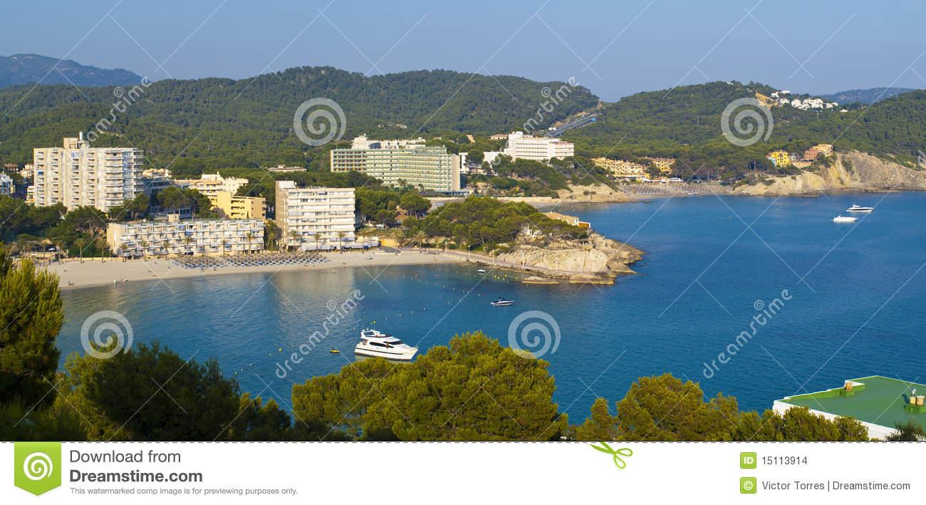 Paguera Beach, Mallorca Stock Images.