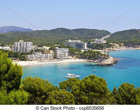 Stock Image of Paguera Beach, Mallorca.