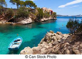 Stock Photo of Majorca Cala Fornells beach Paguera Peguera Calvia.