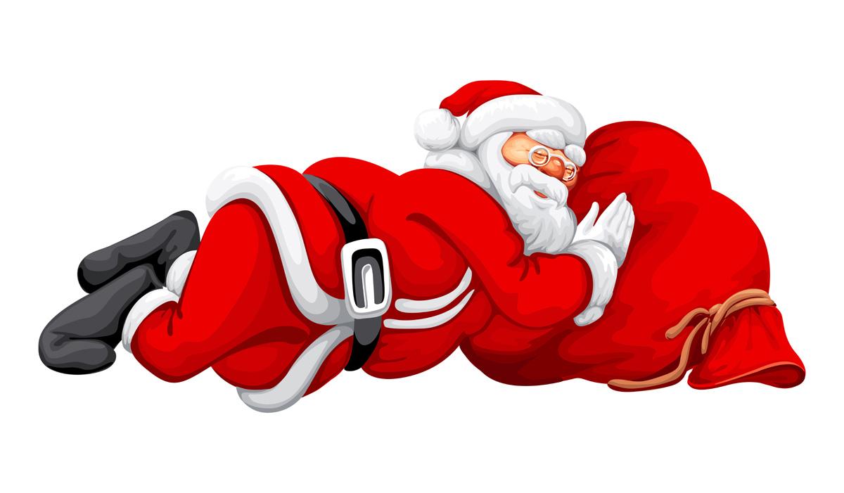 A obesidade do Pai Natal.