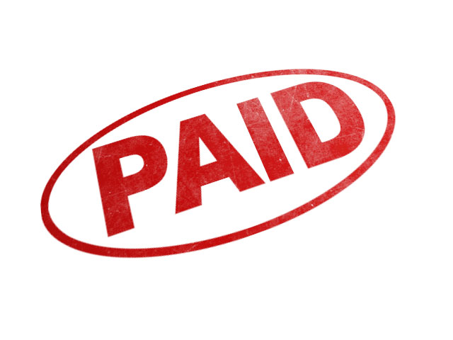 Paid Stamp Image.