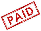 Paid In Full Stamp Clipart.