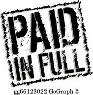 Paid In Full Clip Art.