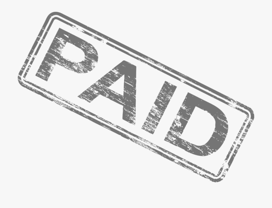 Paid Stamp Black And White , Transparent Cartoon, Free.