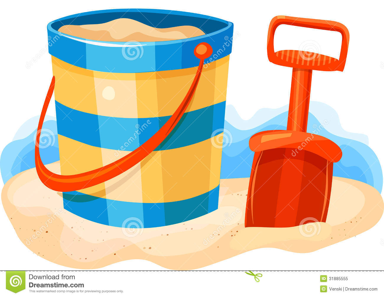 Sand Bucket And Shovel Clipart.