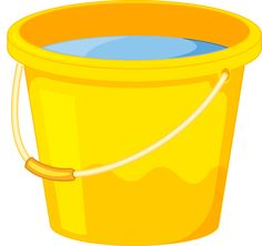 Clipart pail of water.