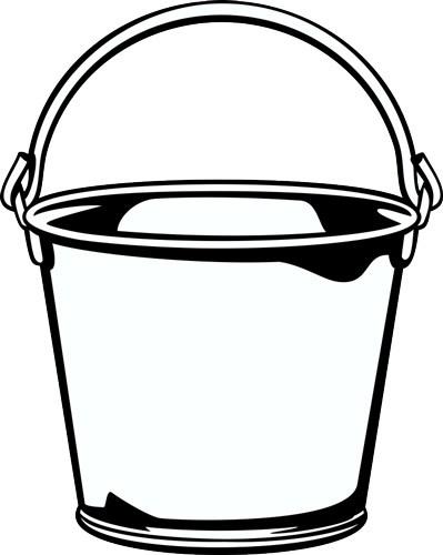 Clipart black and white pail 2 » Clipart Portal.