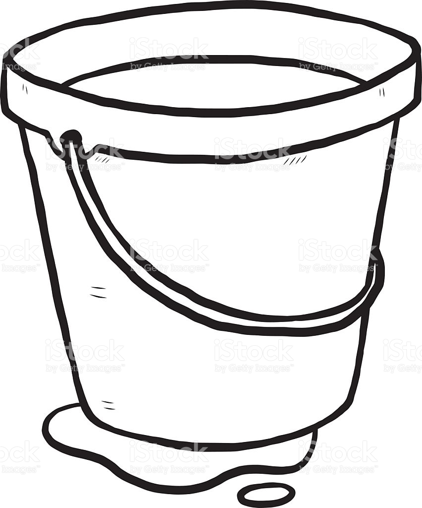 Pail clipart black and white 1 » Clipart Station.