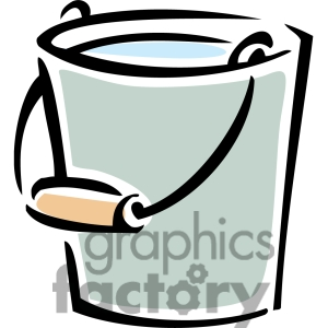 Pail Of Water Cartoon Clipart.
