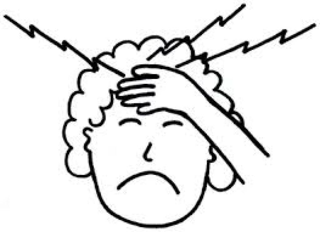 Headache Clipart Black And White.