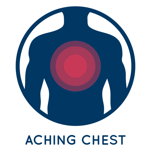 Aching chest icon.