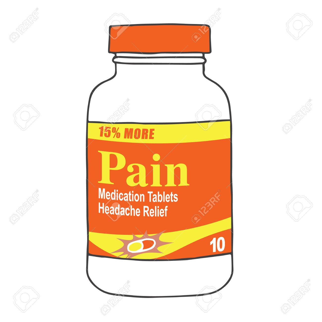 Pain Medication Clip Art.