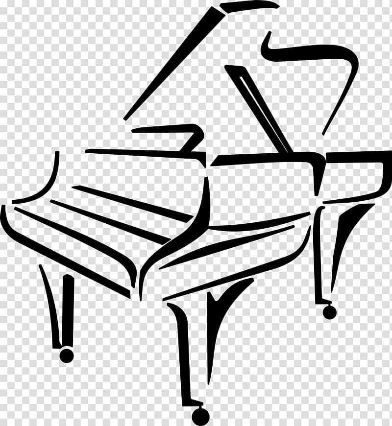 Classical piano illustration, Piano Drawing Music , piano.