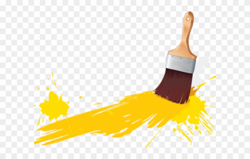 Paint Brush Clipart Painting Building.