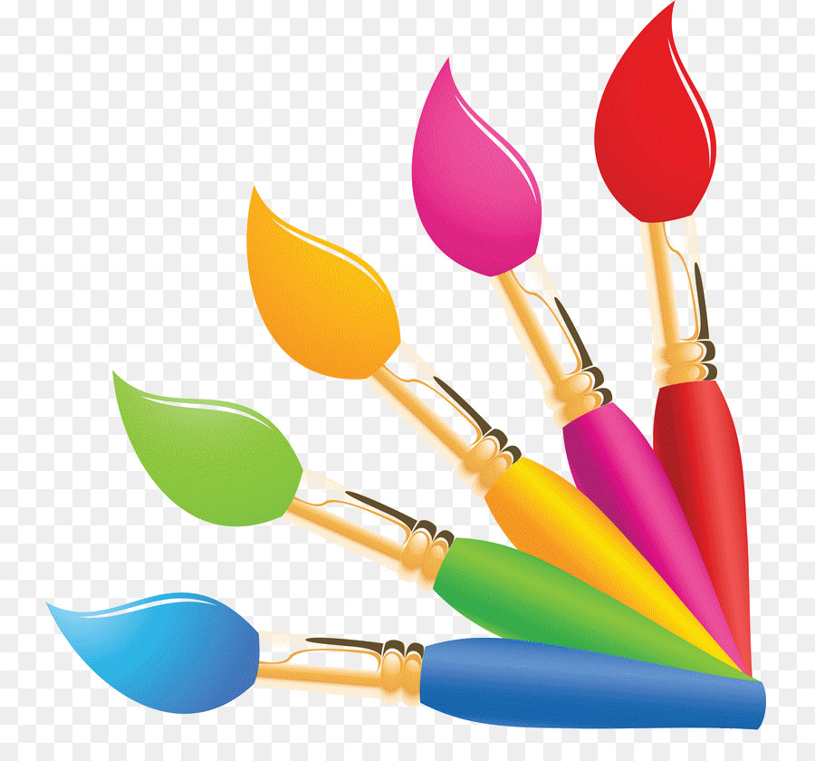 Paint Brush Cartoon clipart.