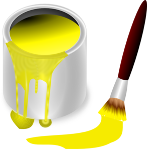 Yellow Paint With Paint Brush Clip Art at Clker.com.