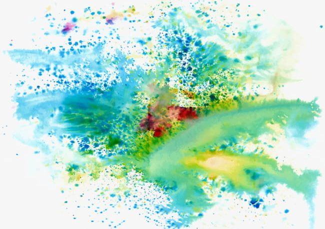 Cool Colors Splash Paint Color Background PNG, Clipart.
