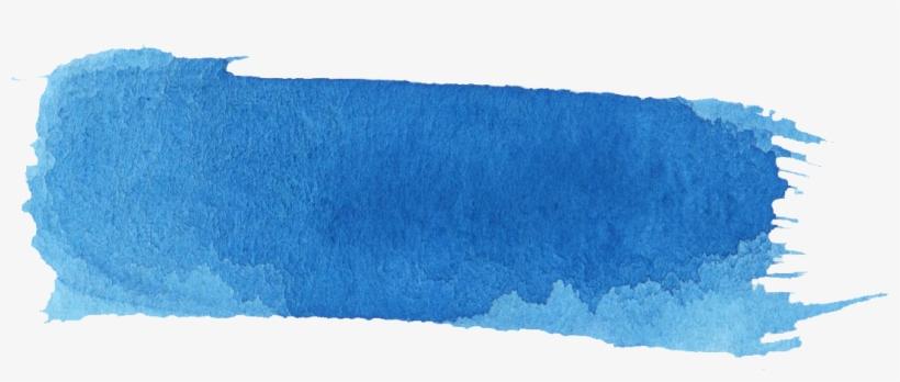 16 Blue Watercolor Brush Stroke Banner.
